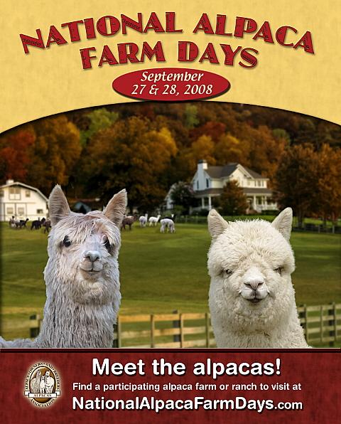 2008 National Alpaca Farm Days Poster