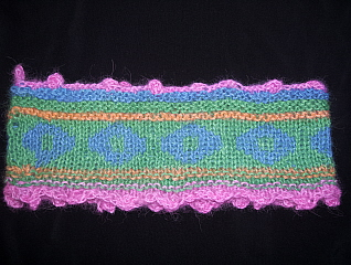 One of the completed Nordic headbands