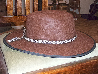 Side view of my felted alpaca hat