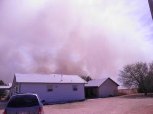 Smoke from the Grass Fire April 17 2011