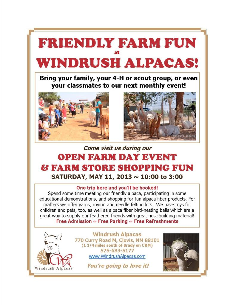 5.11.13 Farm Day flyer