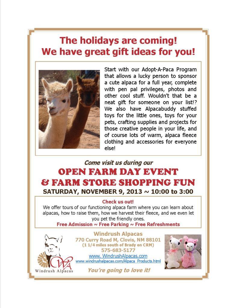11.9.13 Farm Day flyer