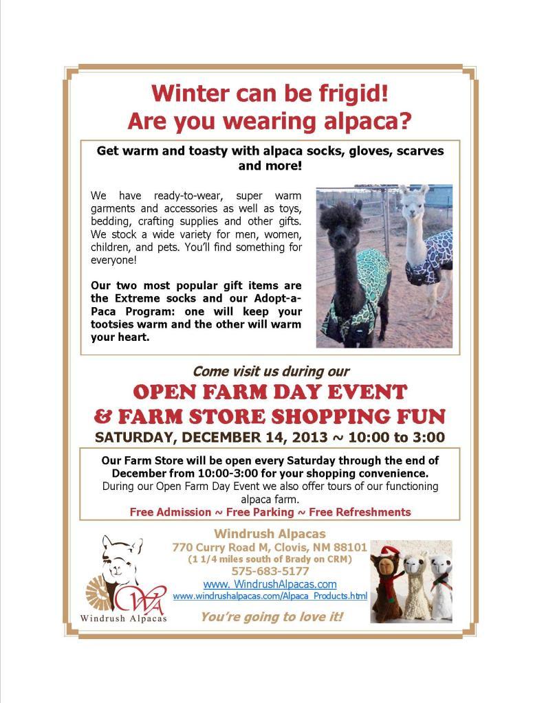 12.14.13 Farm Day flyer