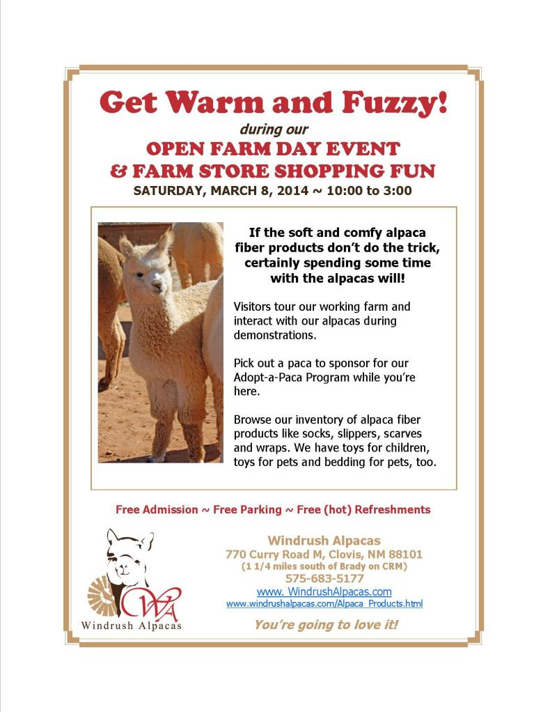 3.8.14 Farm Day flyer