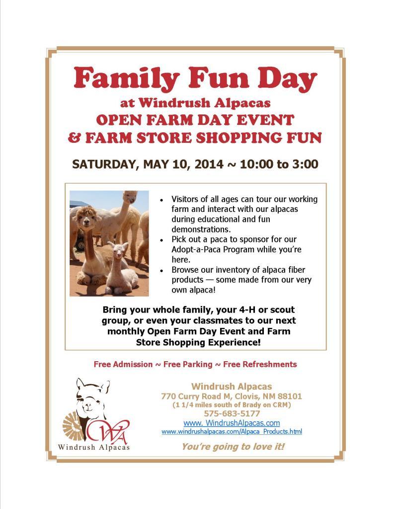 5.10.14 Farm Day flyer