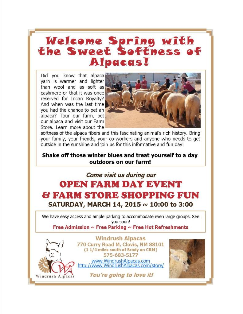 3.14.15 Farm Day flyer