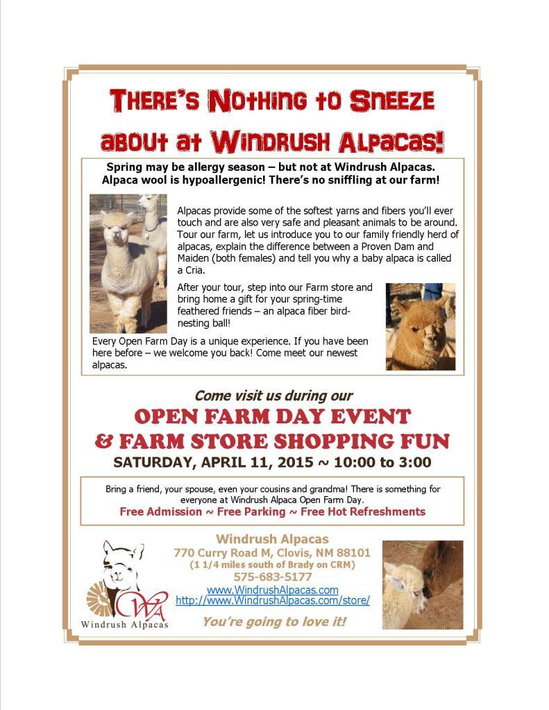 4.11.15 Farm Day flyer