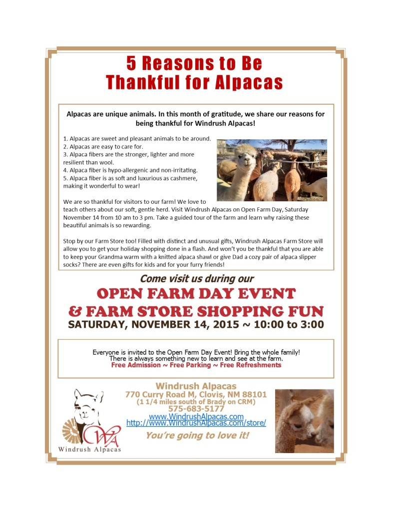 11.14.15 Open Farm Day Flyer